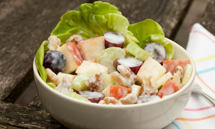 waldorf salad in a bowl